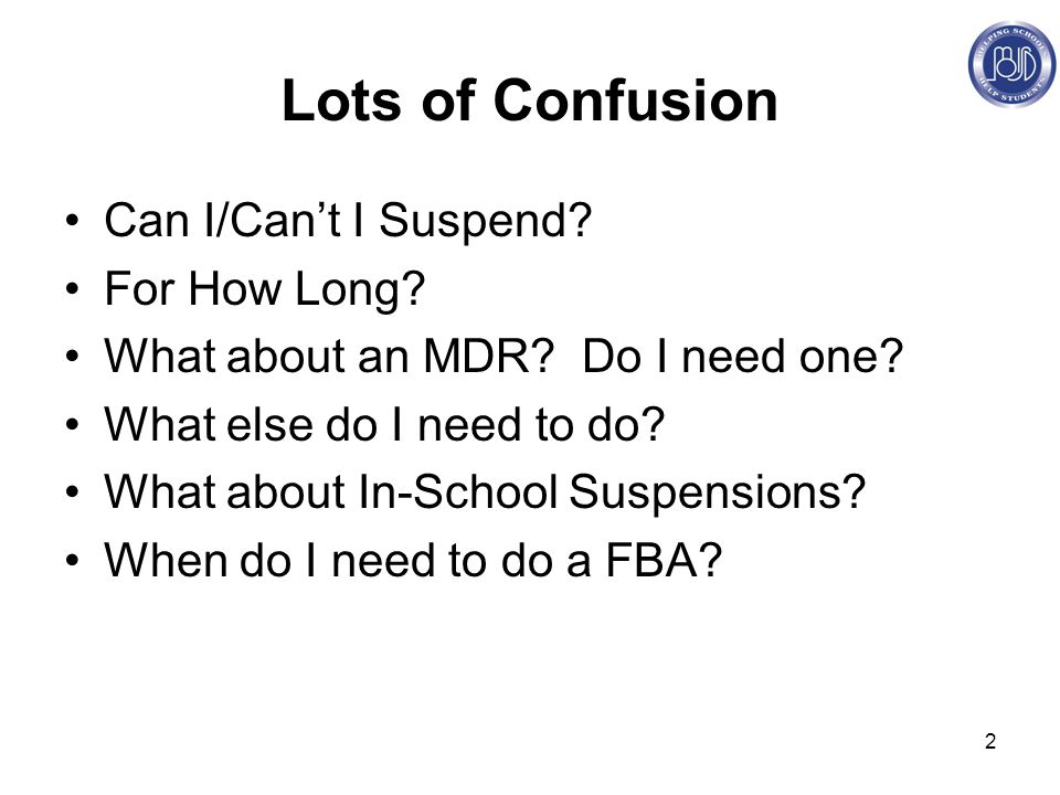 2 Lots of Confusion Can I/Can't I Suspend. For How Long.