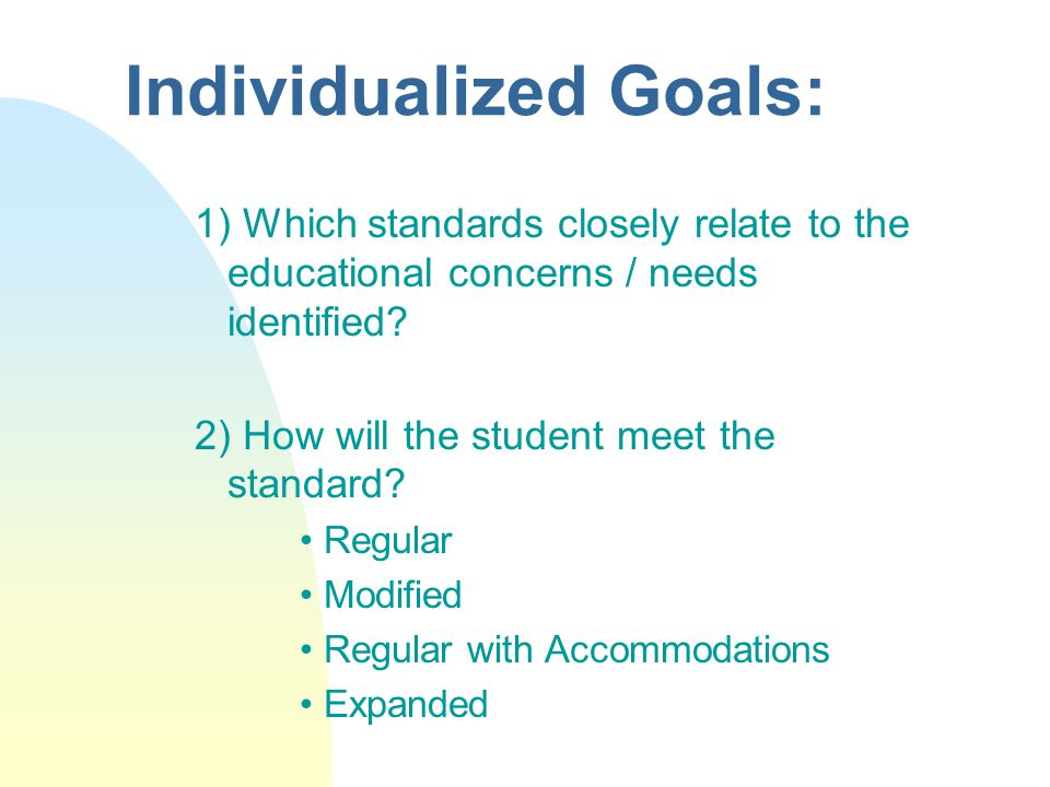 Steps in the IEP / Standards Process