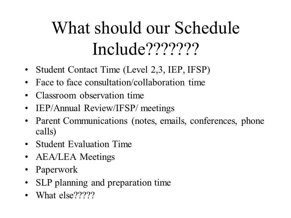 What should my flexible schedule look like.