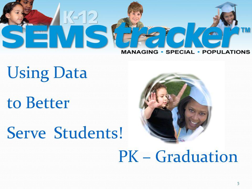 PK – Graduation 5 Using Data to Better Serve Students!