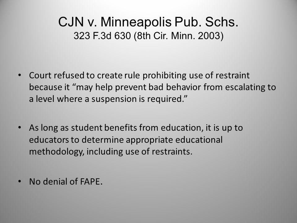 Gateway (CA) Unified Sch.Dist. 24 IDELR 80 (1995) School officials restrained student.