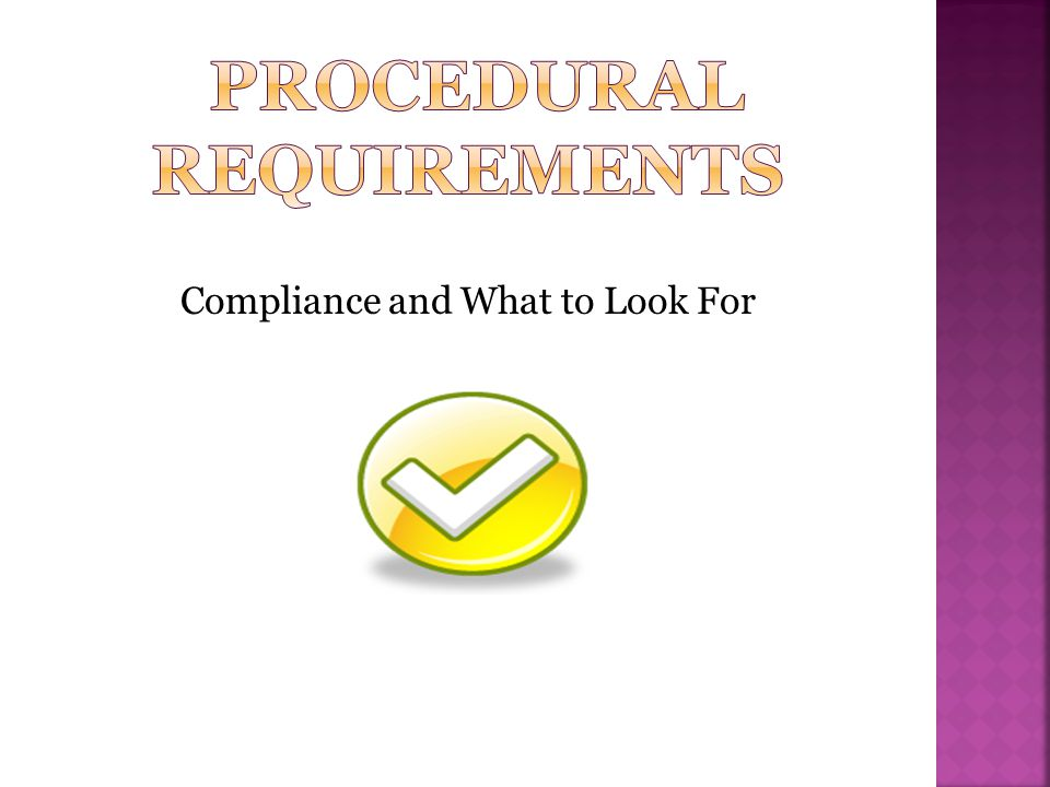 Compliance and What to Look For
