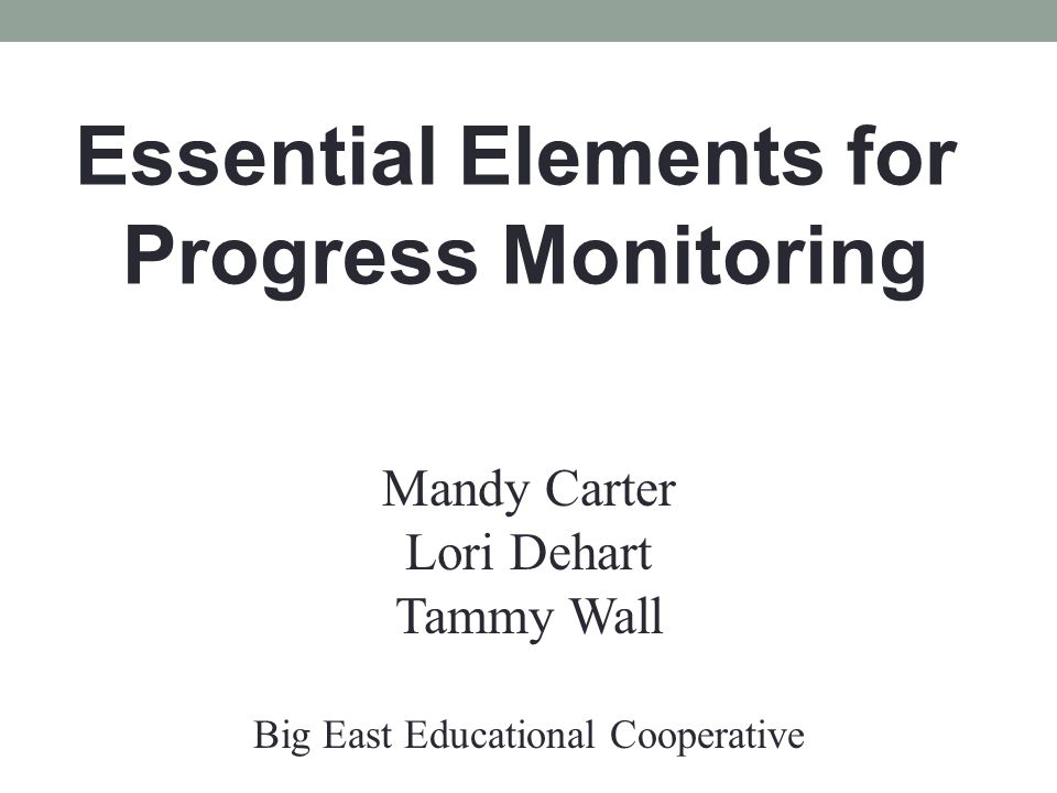 Things to Consider when Reporting Progress Has the student made progress toward the goal/s as expected.