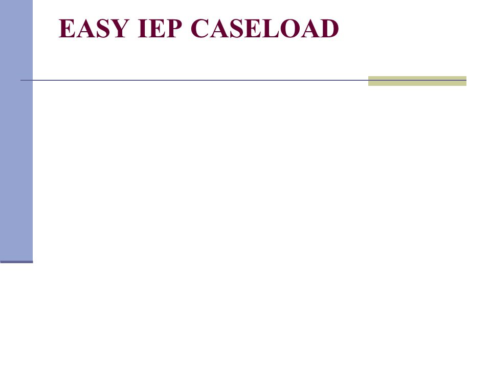 EASY IEP CASELOAD