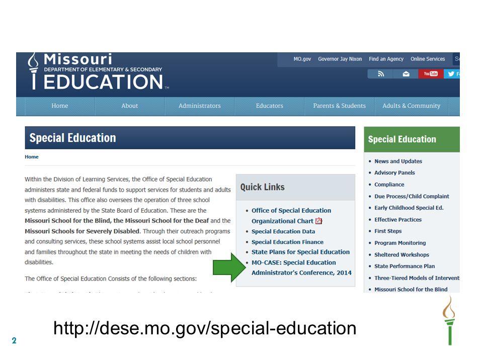 2 http://dese.mo.gov/special-education
