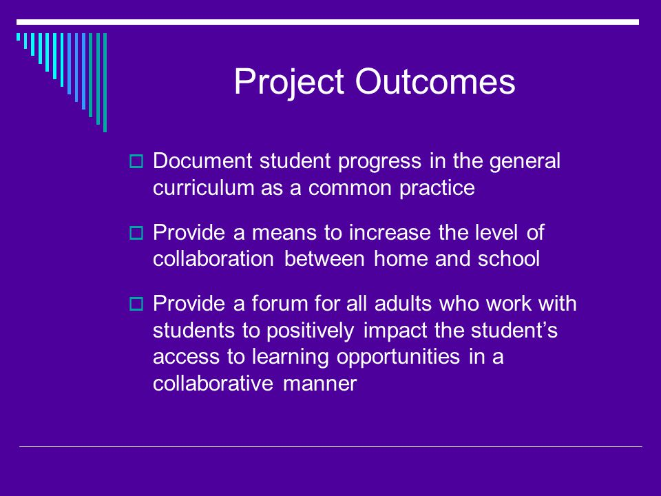 Professional Development Outcomes  Provide an Overview of the Quality IEPs process by: Highlighting Teacher Standards Discussing Project History/Implementation Discussing requirements of IDEA 04 Reviewing DPI Compliance Corrective Action Reviewing the four components of Quality IEPs Accessing and completing the SPSR in Infinite Campus