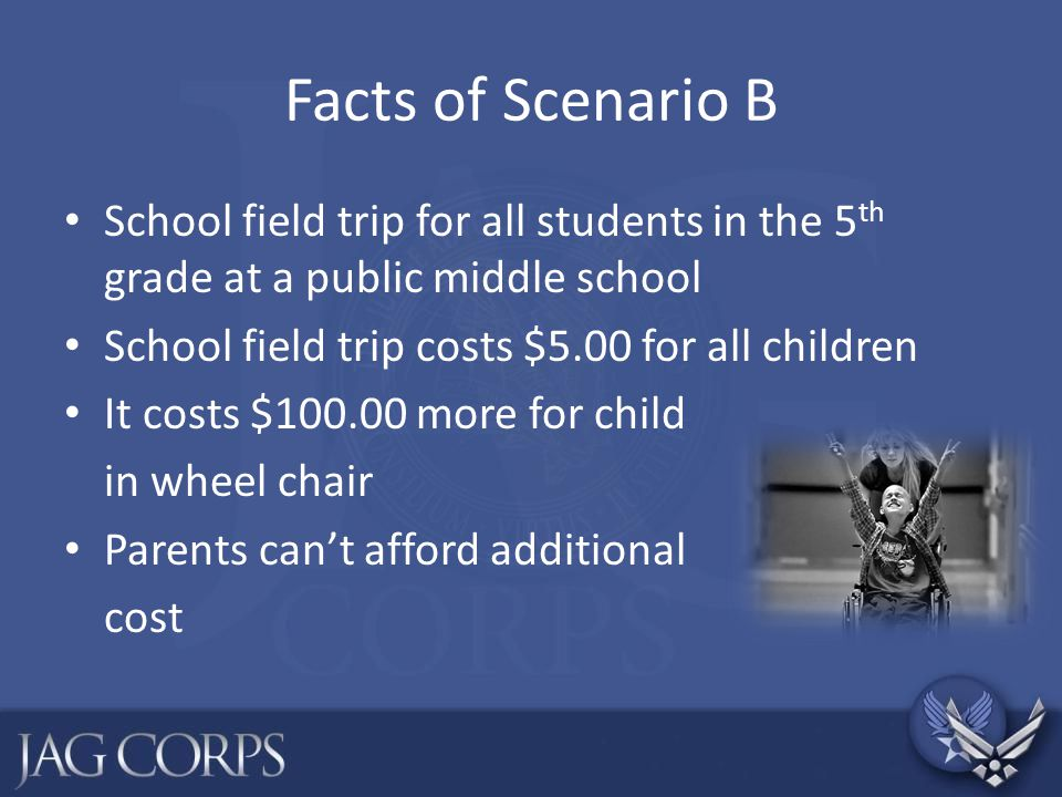 Facts of Scenario H Military family with one child in school Eric has intellectual and emotional disabilities He has wandered away from the school and been found in the play ground by school officials His teachers are fed up with this behavior They propose the use of restraints and use of an isolation room to address the behavior