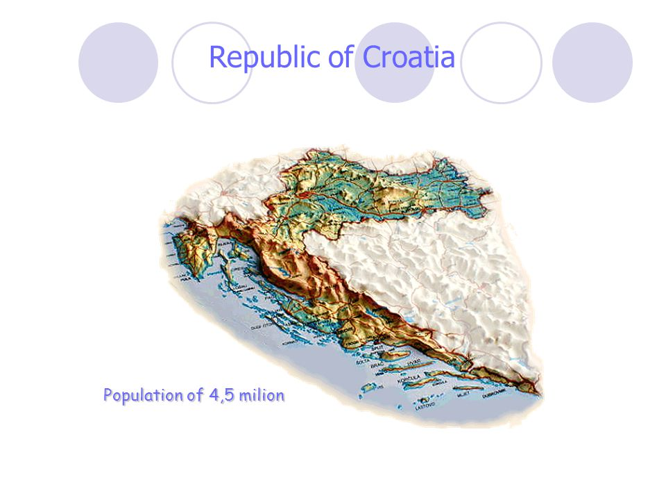 Republic of Croatia Population of 4,5 milion