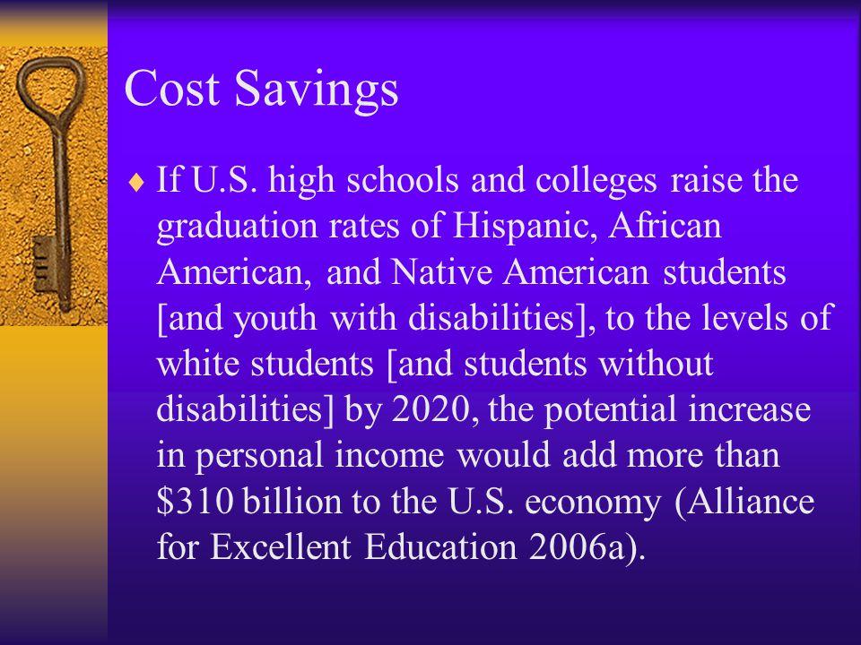 Cost Savings  If U.S.