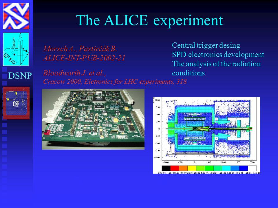 The ALICE experiment jTag kontrolér mapa radiačných úrovní v ALICE Morsch A., Pastirčák B. ALICE-INT-PUB-2002-21 Bloodworth J. et al., Cracow 2000, El