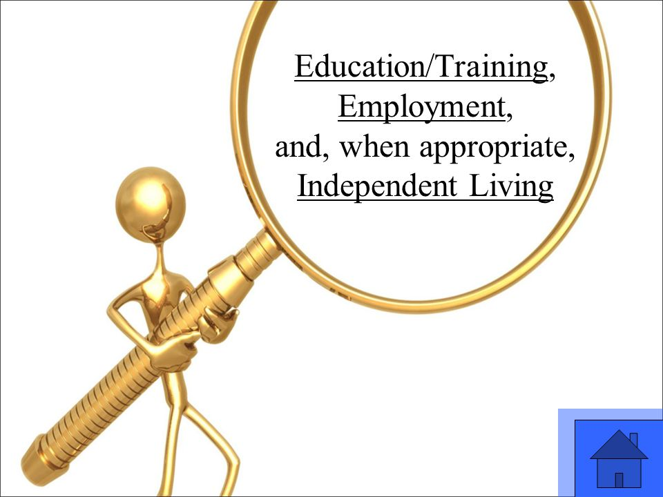 21 Education/Training, Employment, and, when appropriate, Independent Living