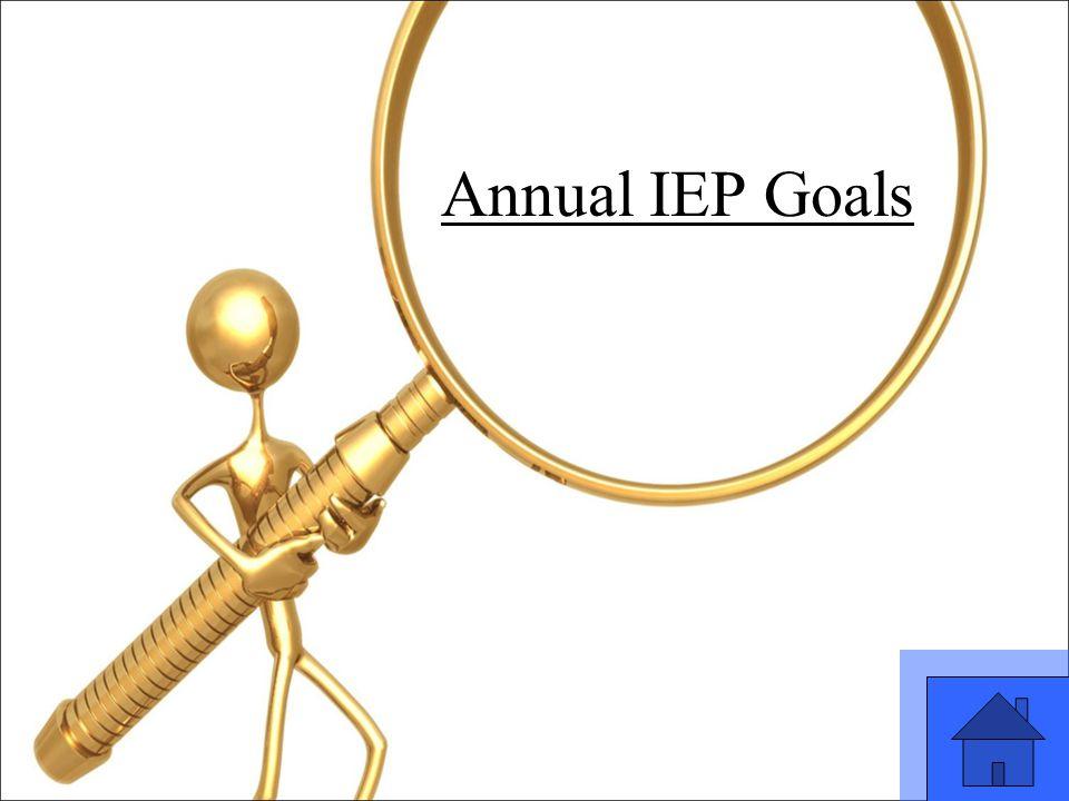 23 Annual IEP Goals
