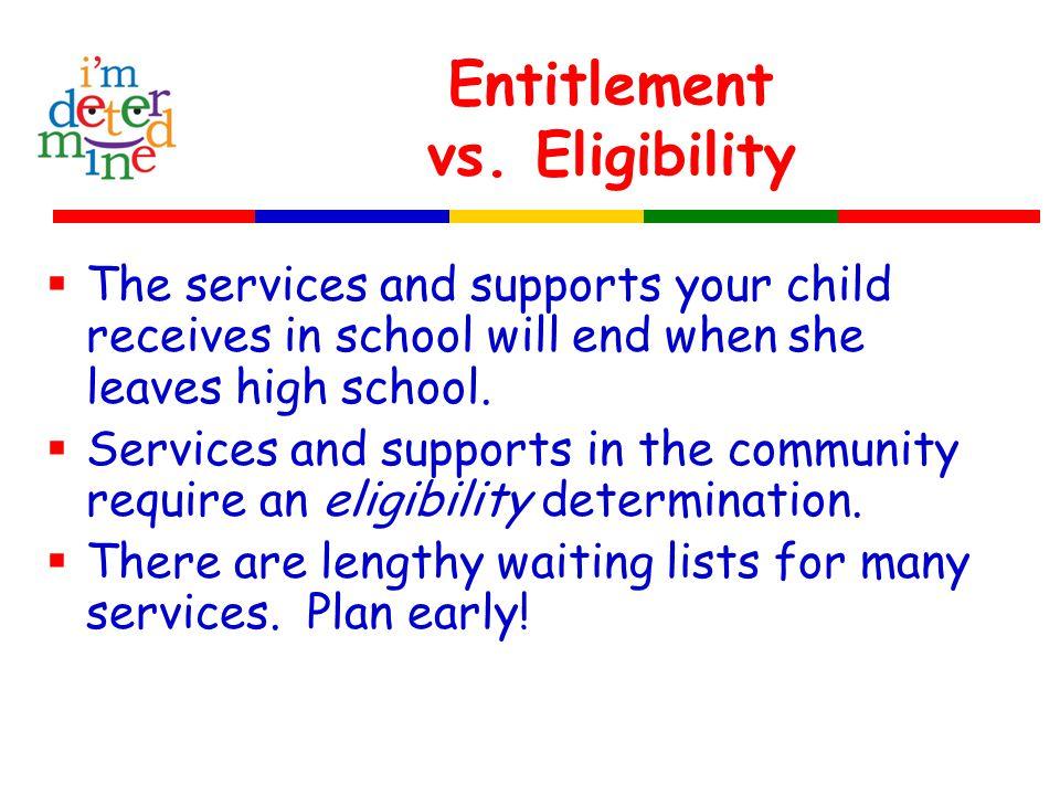 Entitlement vs.