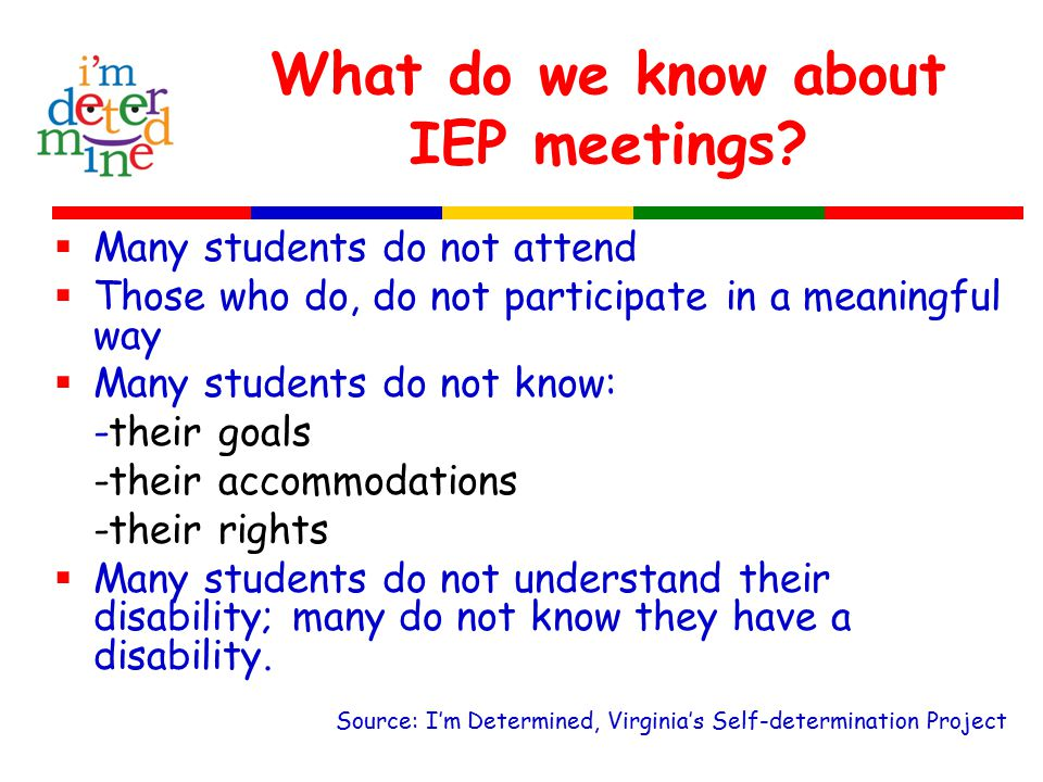 What do we know about IEP meetings.