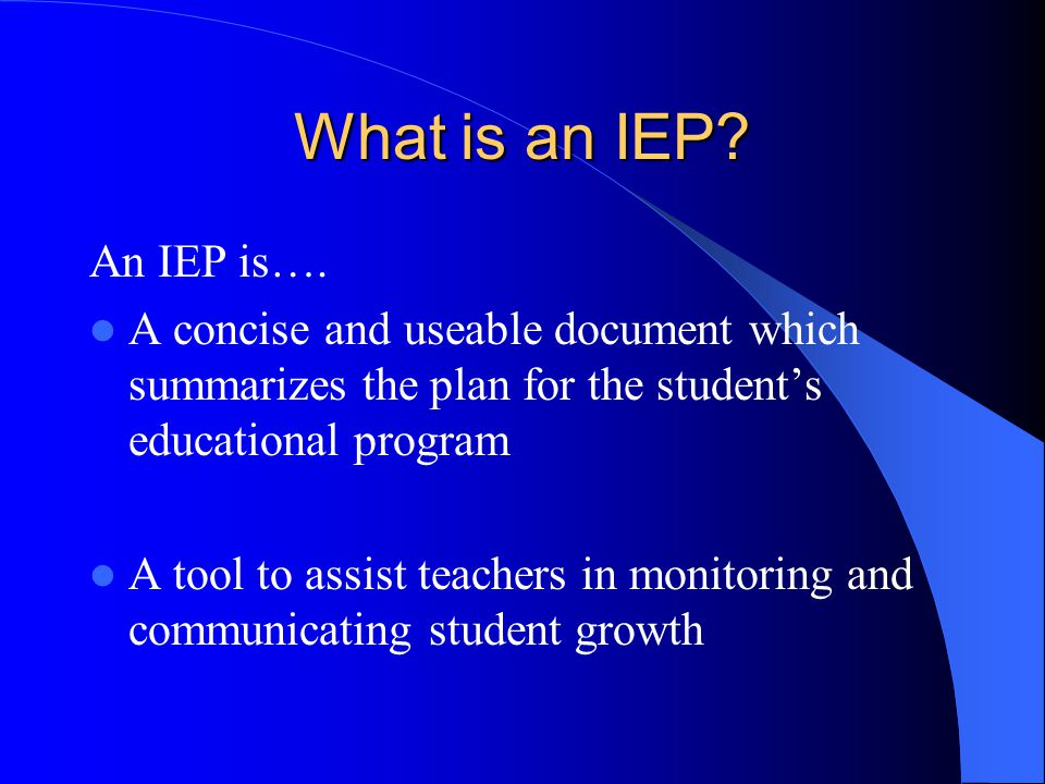 Individual Education Plan Overview Presented By: Pamela Cameron Winter 2013