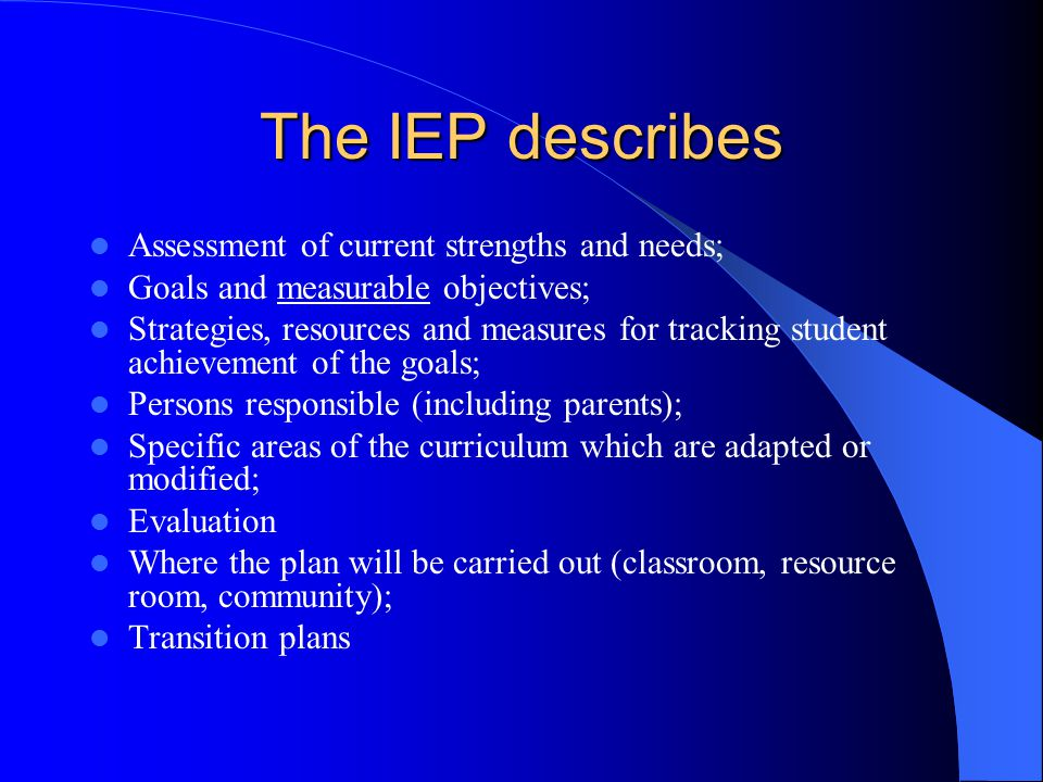 Identification and Assessment A Functional Behaviour Assessment is required for students reported in the behaviour categories (H and R); Analyze the student's functional behaviour in various settings; Focus on strengths and needs; (goals are formulated from the student's needs); The assessment assists in the planning and evaluating of the educational program.