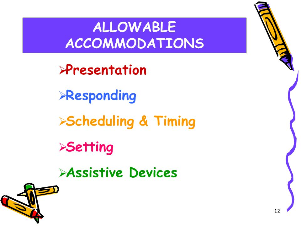 S738 Test Record Accommodations 11 ** Accommodations must be listed on this screen.