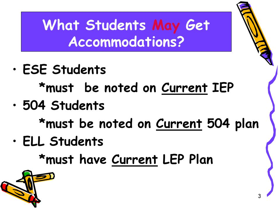 3 What Students May Get Accommodations.