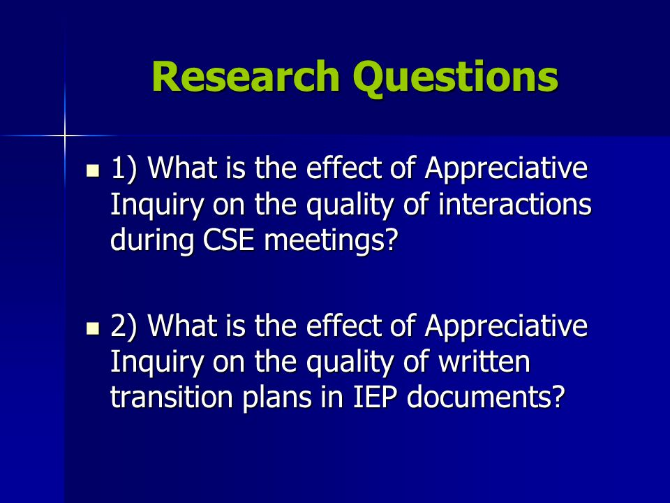 Quality in IEP meetings is defined as the percentage of: (a) student turn-taking among different participants, (a) student turn-taking among different participants, (b) positive remarks, (vs.) negative remarks (b) positive remarks, (vs.) negative remarks (c) remarks communicating information and observation, (vs.) opinion (c) remarks communicating information and observation, (vs.) opinion (d) student self-advocacy remarks, and (d) student self-advocacy remarks, and (e) remarks focused on student transition.