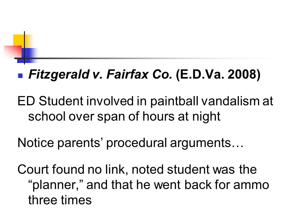 Fitzgerald v. Fairfax Co. (E.D.Va.