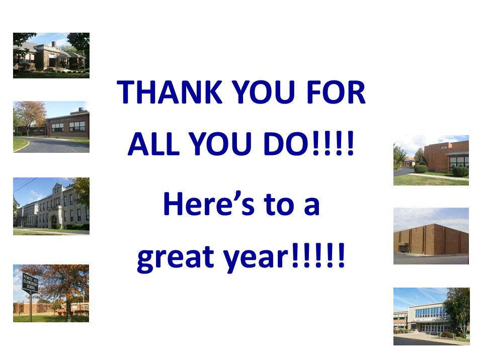 THANK YOU FOR ALL YOU DO!!!! Here's to a great year!!!!!