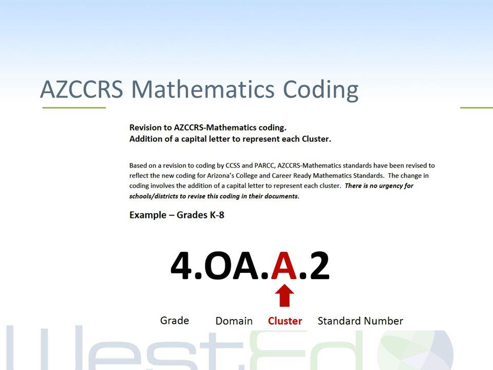 AZCCRS Mathematics Coding