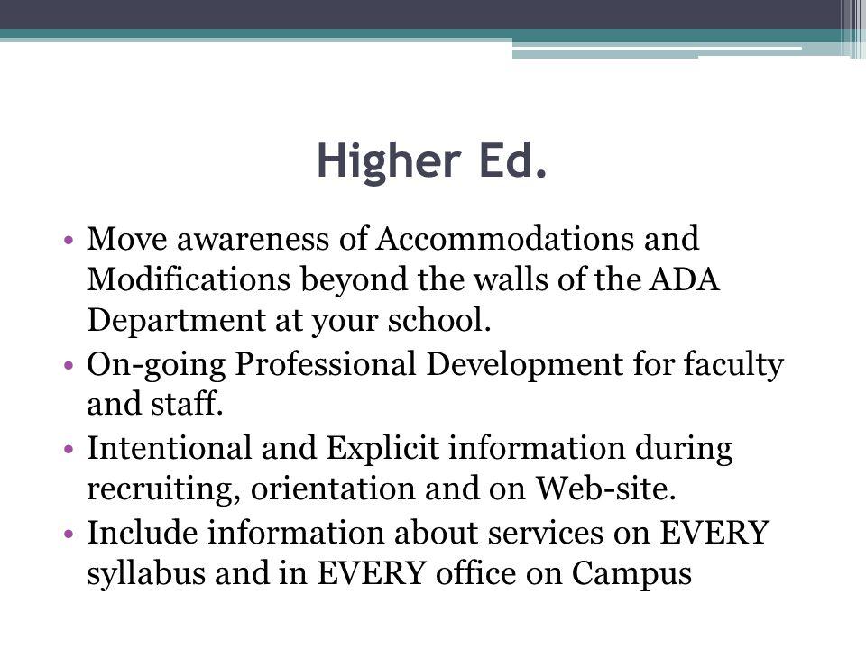 Higher Ed.