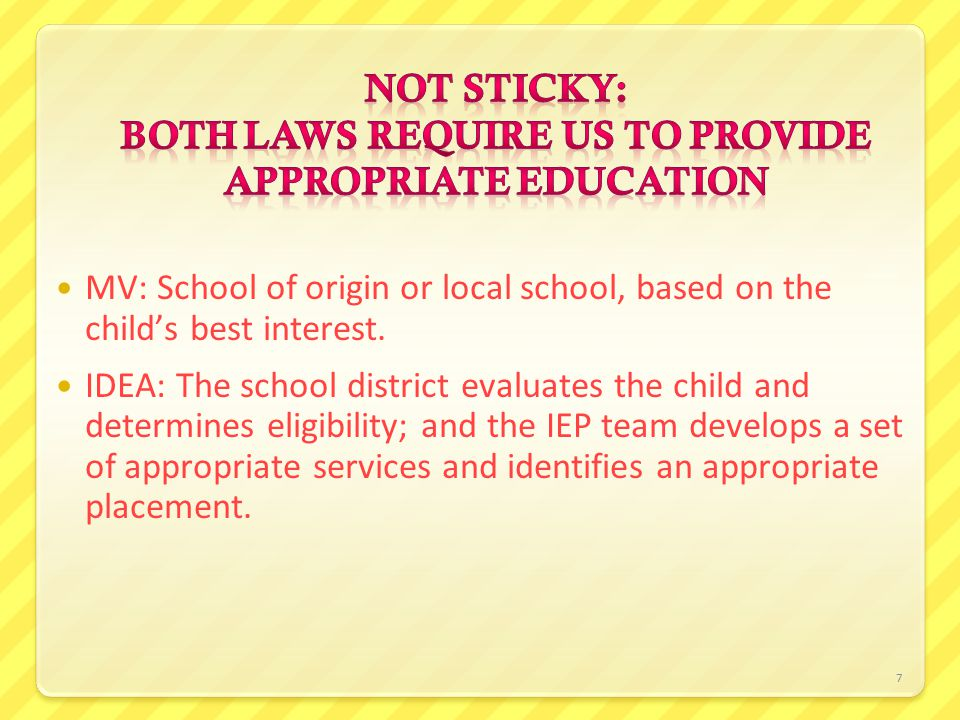 8 IEP team develops IEP and identifies an appropriate placement: School A in School District A.