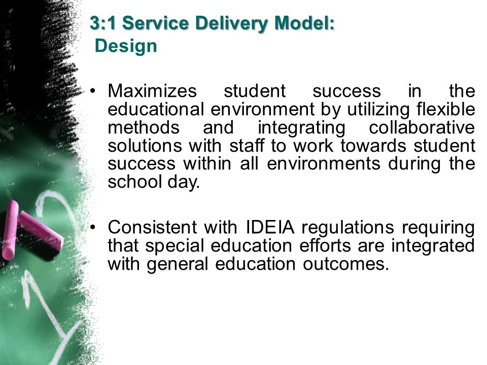 Maximizes student success in the educational environment by utilizing flexible methods and integrating collaborative solutions with staff to work towa