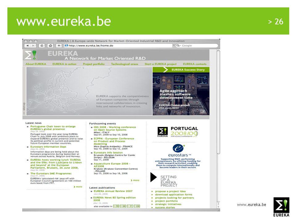www.eureka.be > 26 www.eureka.be