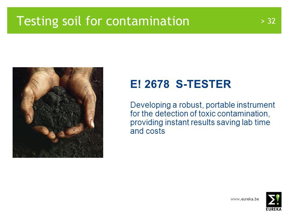 www.eureka.be > 32 Testing soil for contamination E.