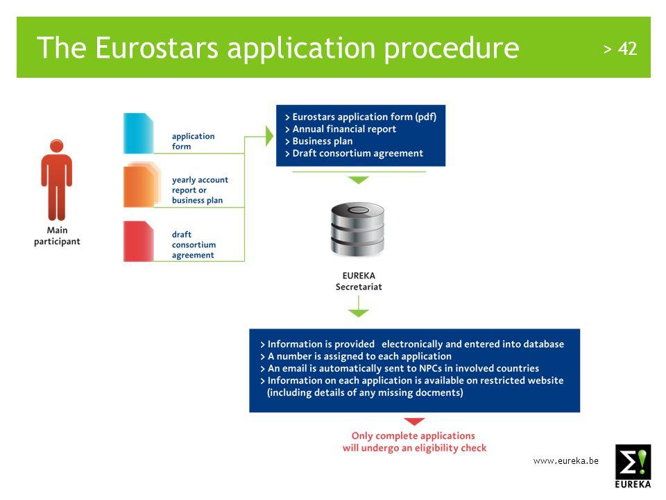 www.eureka.be > 42 The Eurostars application procedure