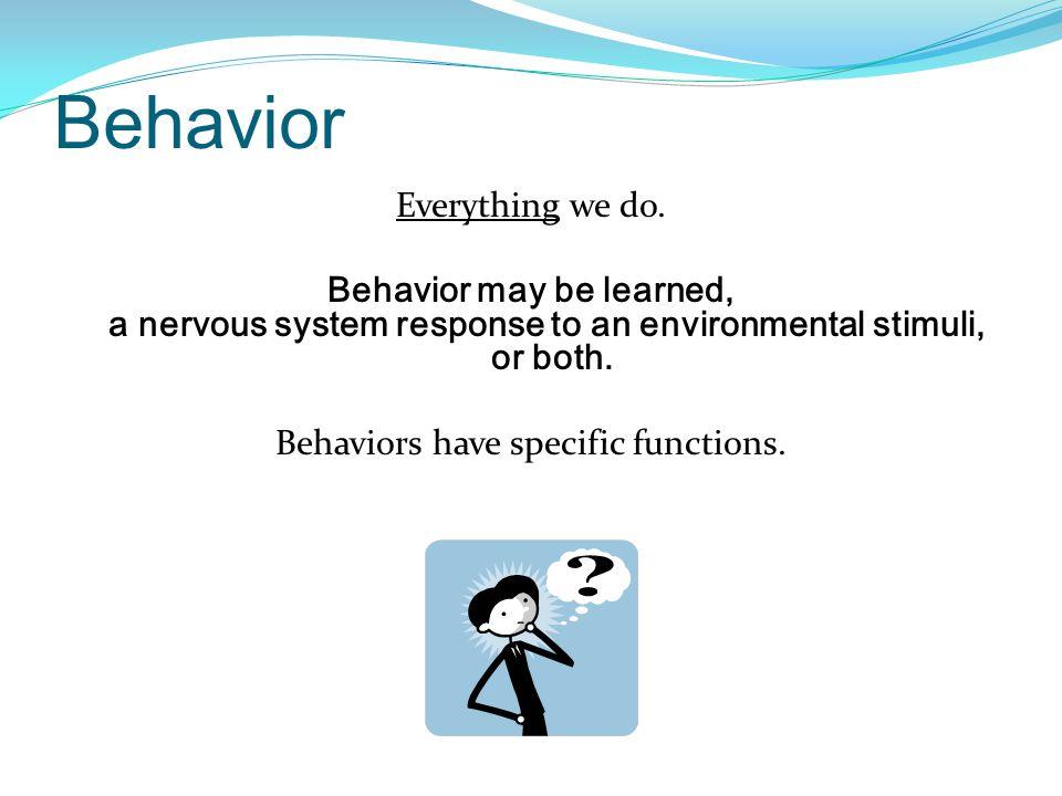 Behavior Everything we do.