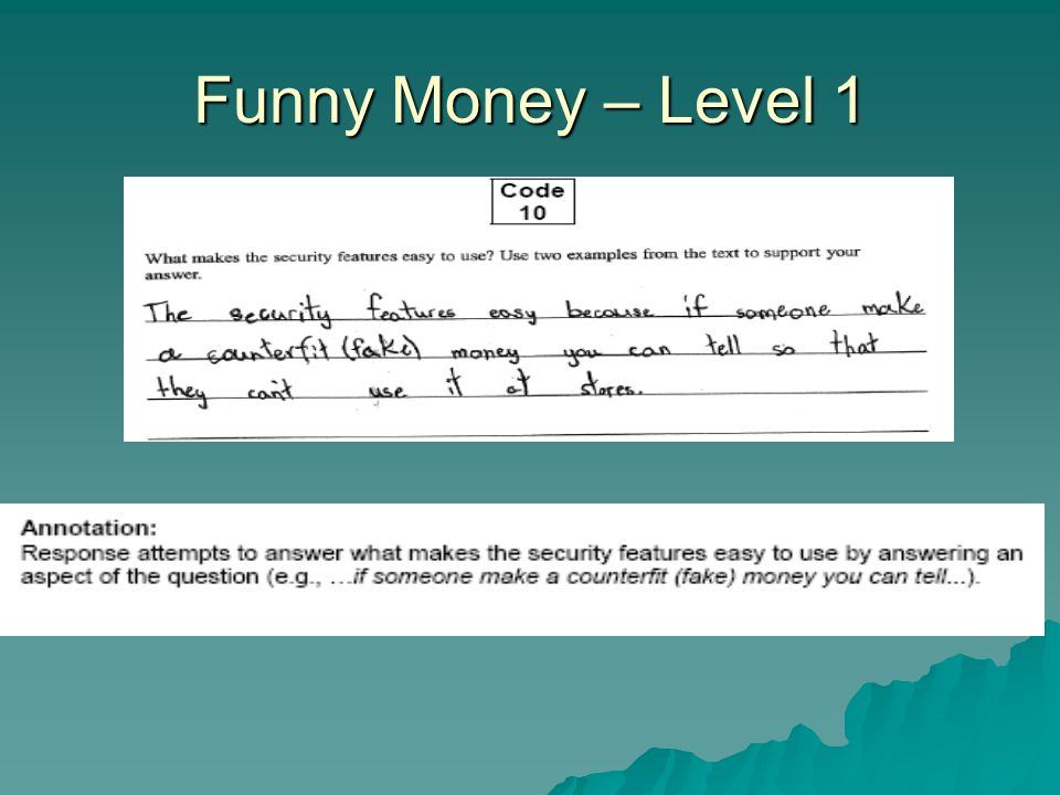 Funny Money – Level 1