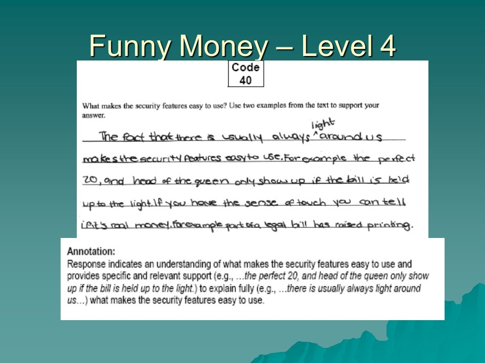 Funny Money – Level 4