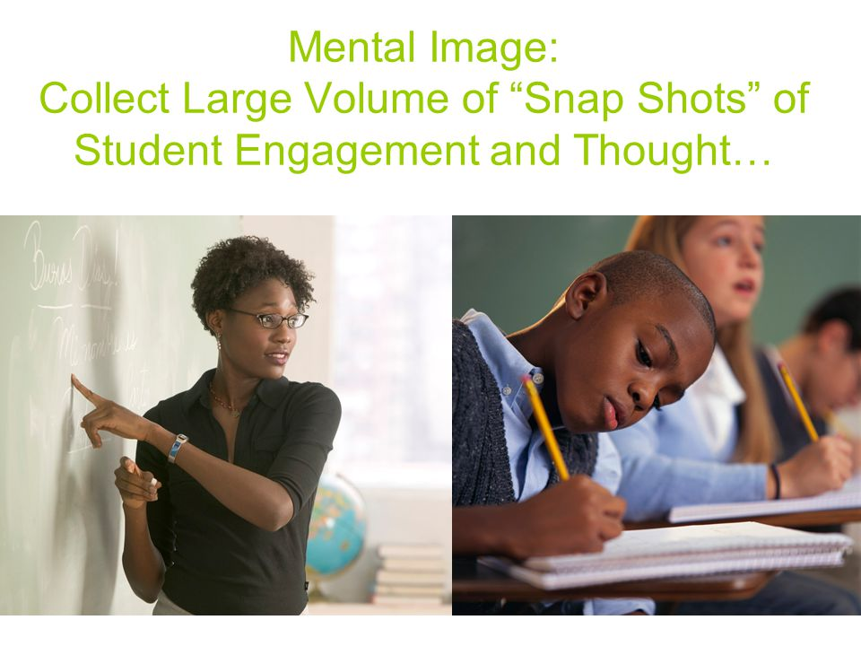 Mental Image: Collect Large Volume of Snap Shots of Student Engagement and Thought…