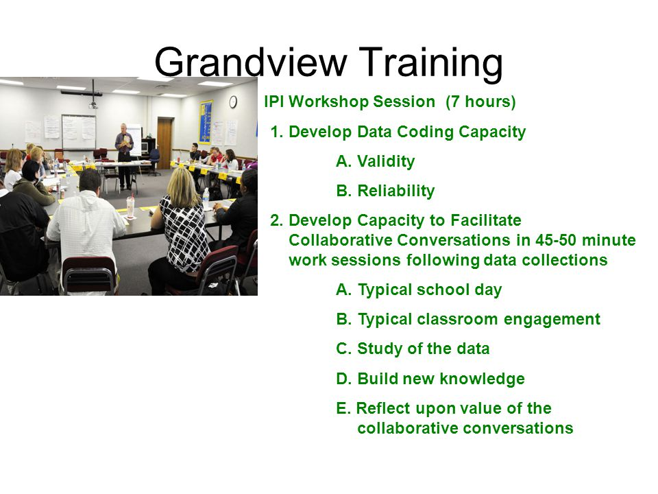 Grandview Training IPI Workshop Session (7 hours) 1.