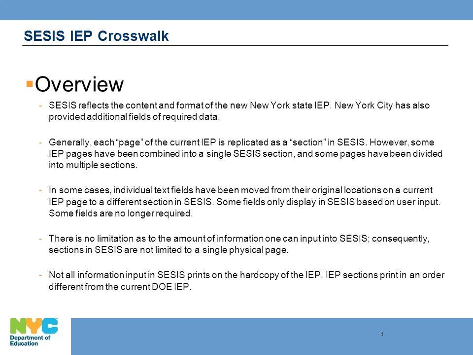 SESIS IEP Crosswalk … the SESIS IEP Coordinated Set of Transition Activities 25