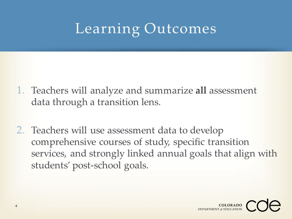 What questions do you have about transition planning and IEP development? Learning Expectations 5