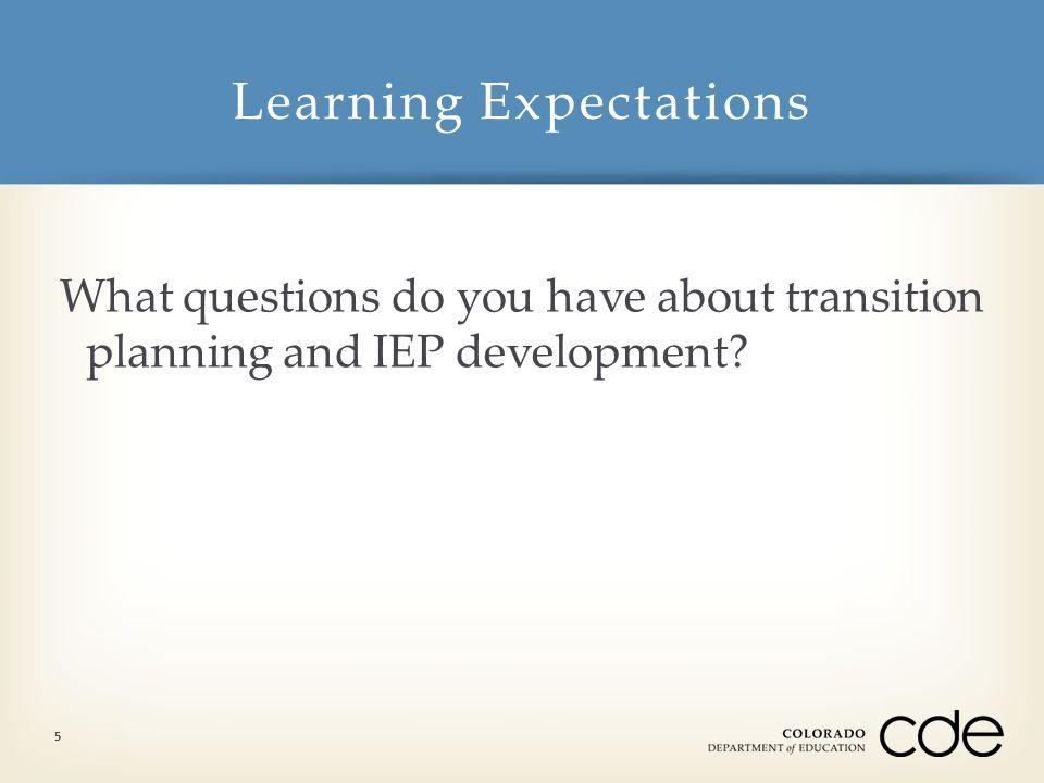  How do I analyze all assessment data through a transition lens.