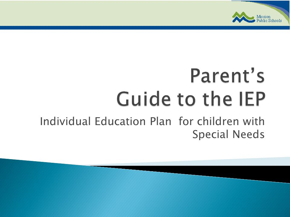 Individual Education Plan for children with Special Needs