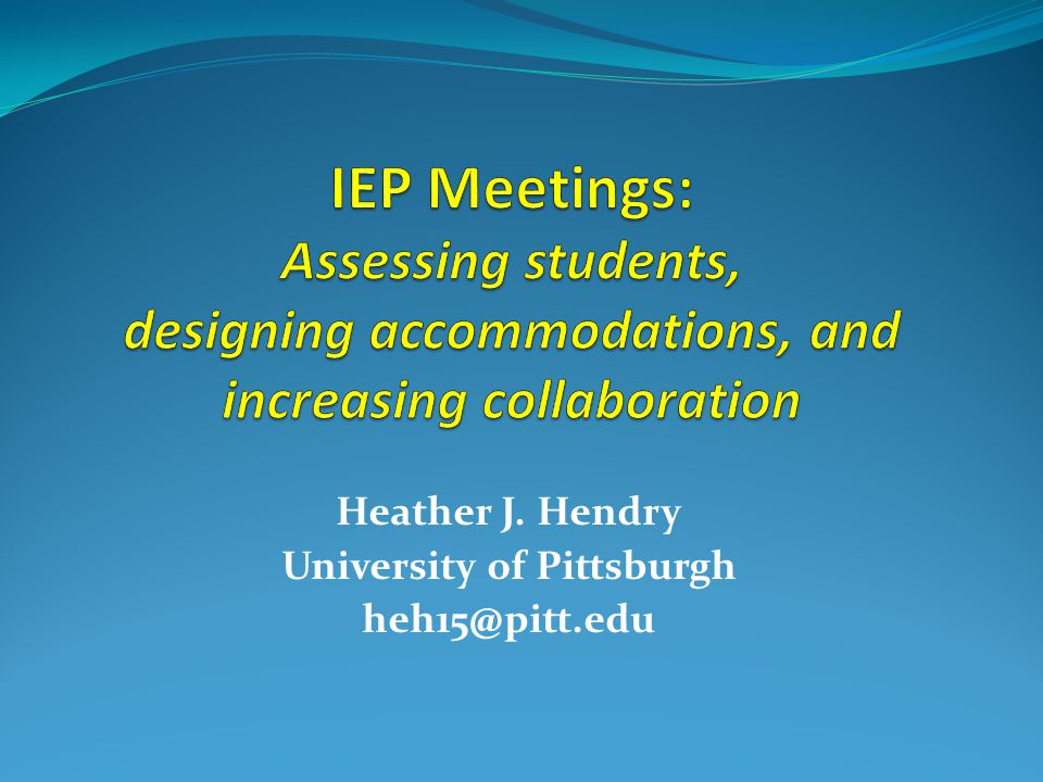 Heather J. Hendry University of Pittsburgh heh15@pitt.edu