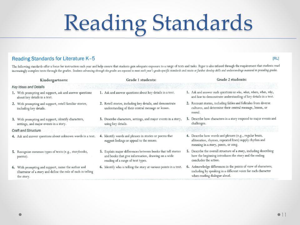 Reading Standards 11