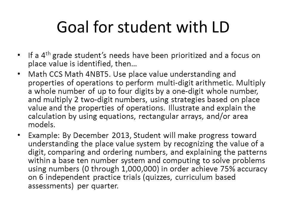 Goal for student with ED Self management goals can reflect the IL Social Emotional Standards or can incorporate some CCS elements. CCSS.ELA-Literacy.S