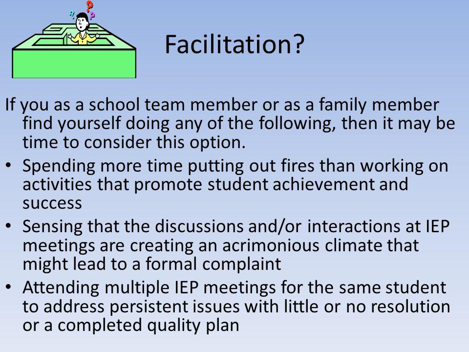 Facilitation.