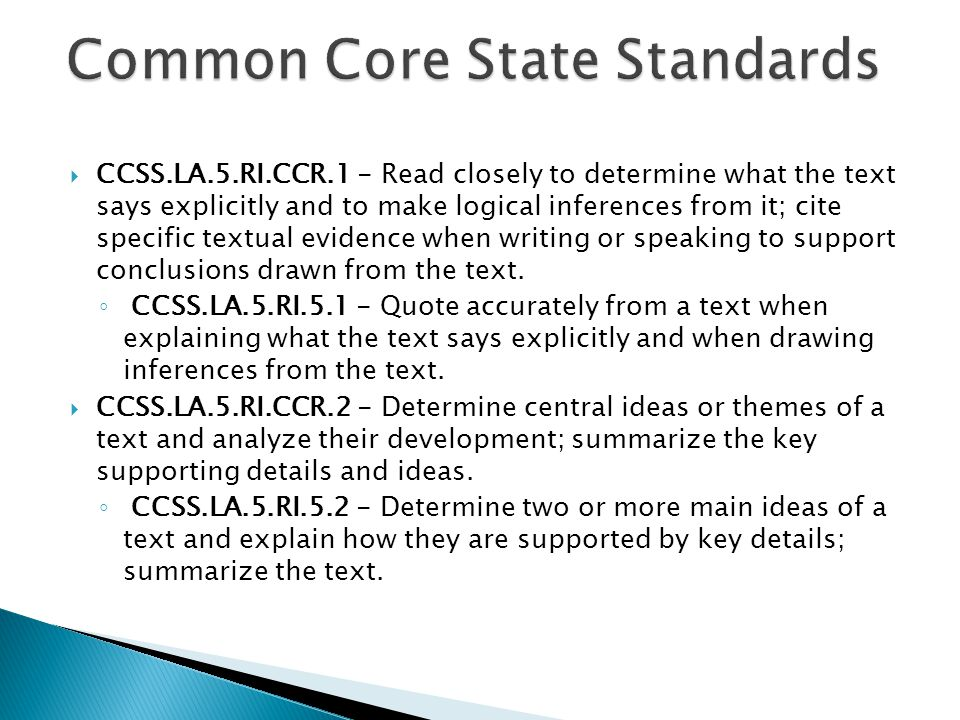  CCSS.LA.5.RI.CCR.3 - Analyze how and why individuals, events, and ideas develop and interact over the course of a text.