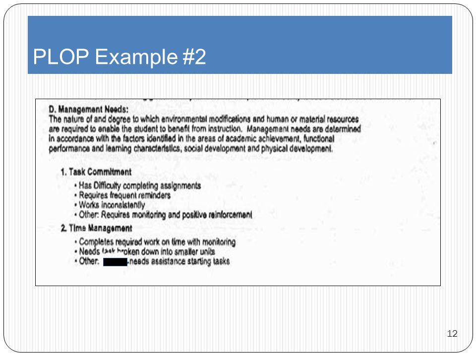 PLOP Example #2 12