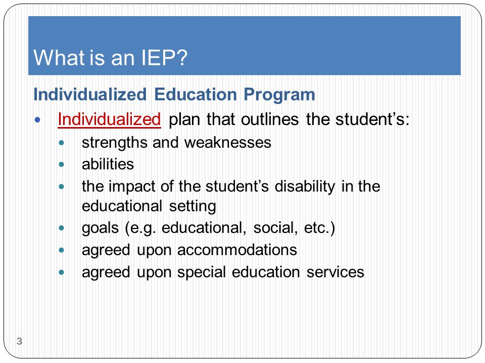 Goals Gleaning educational data from the goals within an IEP 14