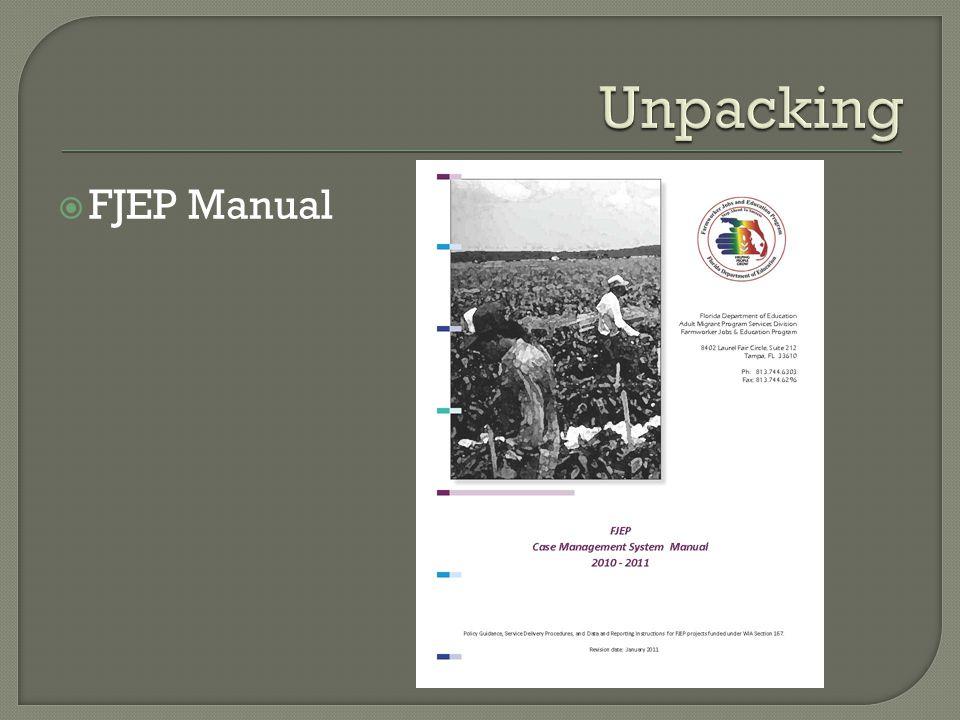  FJEP Manual