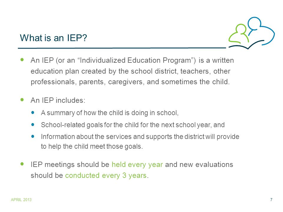 What is an IEP.